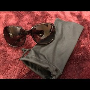 Brown Armani Exchange Sunglasses with pouch